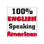 English Speaking American Square Sticker 3