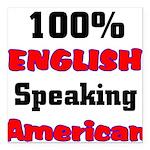 English Speaking American Square Car Magnet 3