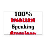 English Speaking American Rectangle Car Magnet