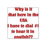 english Square Sticker 3
