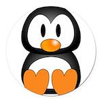 Cute Penguin Round Car Magnet