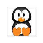 Cute Penguin Square Sticker 3