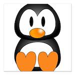 Cute Penguin Square Car Magnet 3