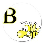 B is for Bee Round Car Magnet