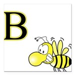 B is for Bee Square Car Magnet 3