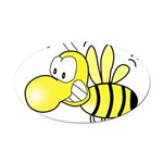 The Original Cute Bee Oval Car Magnet