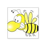 The Original Cute Bee Square Sticker 3