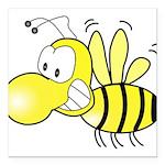 The Original Cute Bee Square Car Magnet 3