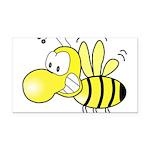 The Original Cute Bee Rectangle Car Magnet