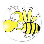 Original Cute Stinger Bee Round Car Magnet