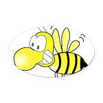 Original Cute Stinger Bee Oval Car Magnet