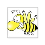 "Original Cute Stinger Bee Square Sticker 3"" x"