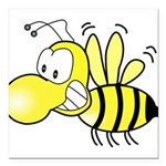 Original Cute Stinger Bee Square Car Magnet 3&quot