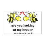 Are you looking at my bees Rectangle Car Magnet