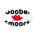 Goober Smooch Oval Car Magnet