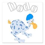 Dodo bird Square Car Magnet 3