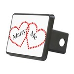 Double Heart Rectangular Hitch Cover