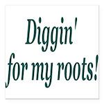 diggin Square Car Magnet 3