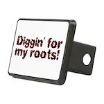 digginred Rectangular Hitch Cover