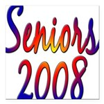 seniors2008 Square Car Magnet 3