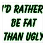 fatugly Square Car Magnet 3