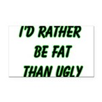 fatugly Rectangle Car Magnet