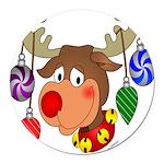 christmasdeer Round Car Magnet