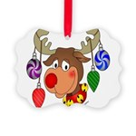 christmasdeer Picture Ornament