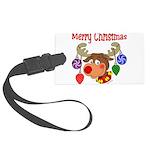 christmasdeer3 Large Luggage Tag