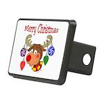 christmasdeer3 Rectangular Hitch Cover