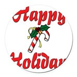 happyholidays Round Car Magnet