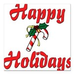 happyholidays Square Car Magnet 3