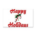 happyholidays Rectangle Car Magnet