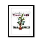 TRAIL MARKERS Framed Panel Print