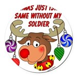 Military - Army Christmas Round Car Magnet