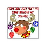 Military - Army Christmas Square Sticker 3