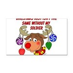 Military - Army Christmas Rectangle Car Magnet