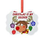 xmassoldier Picture Ornament
