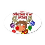 xmassoldier Oval Car Magnet
