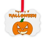 happyhalloween3 Picture Ornament