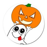 ghostpumpkin Round Car Magnet