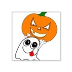 ghostpumpkin Square Sticker 3