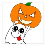 ghostpumpkin Square Car Magnet 3