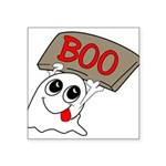 ghost Square Sticker 3