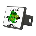 Not Irish Kiss Me Hat Rectangular Hitch Cover