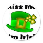 Kiss Me I'm Irish Hat Round Car Magnet