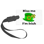 Kiss Me I'm Irish Hat Large Luggage Tag