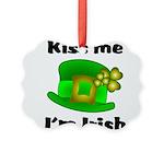 Kiss Me I'm Irish Hat Picture Ornament