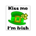 Kiss Me I'm Irish Hat Square Sticker 3
