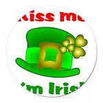 Kiss Me I'm Irish Hat ver2 Round Car Magnet